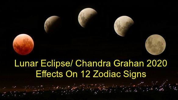 Lunar Eclipse January 2020 - Effects On 12 Zodiac Sign - Chandra Grahan