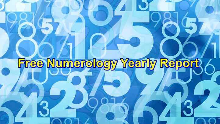 Free Yearly Numerology Report Reading Online Prediction